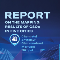 Report on the mapping results of CSOs in five cities: Chernivtsi, Zhytomyr, Chervonohrad, Mariupol and Nikopol (Report)