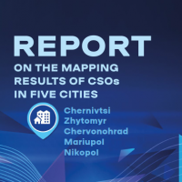 Report on the mapping results of CSOs in five cities: Chernivtsi,  Zhytomyr, Chervonohrad, Mariupol and Nikopol (Brochure)
