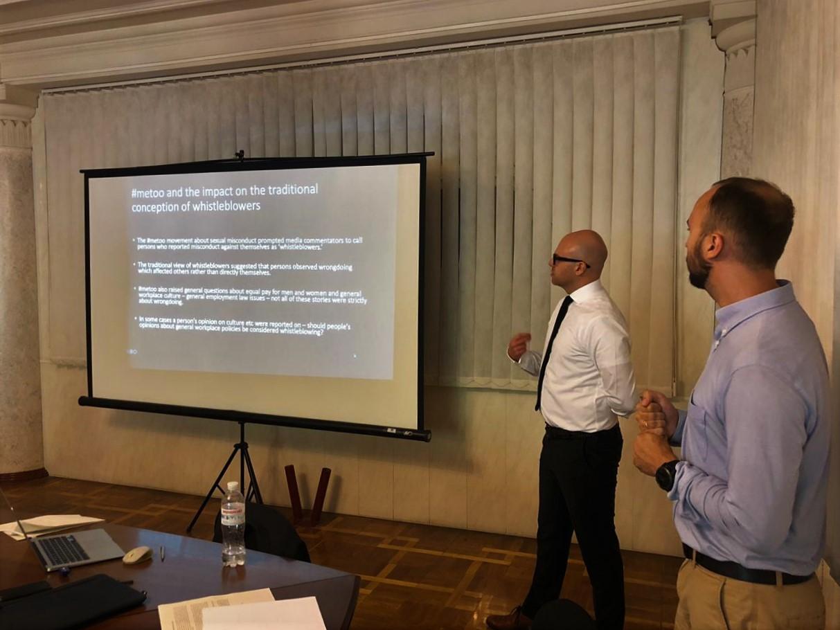 EUACI організувала тренінг з роботи з інформаторами для працівників НАБУ