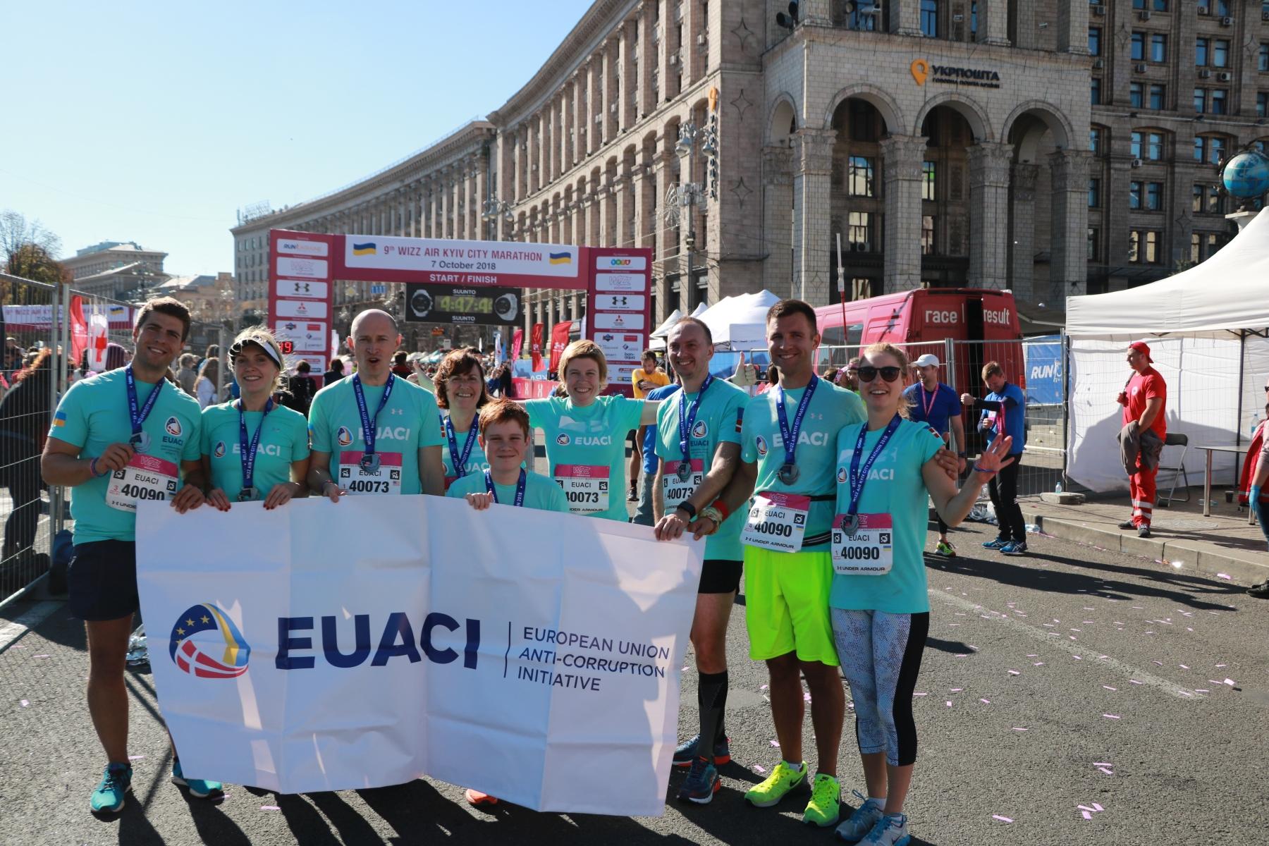 Команда Антикорупційної ініціативи ЄС в Україні взяла участь у марафоні